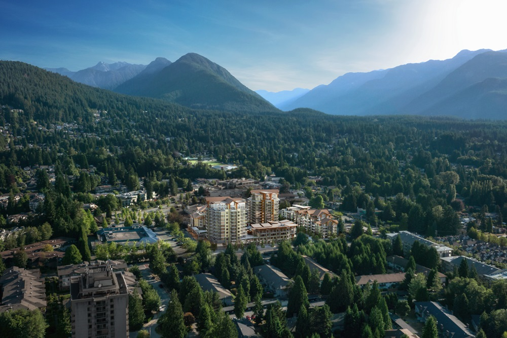 The Residences at Lynn Valley by Bosa Developments.